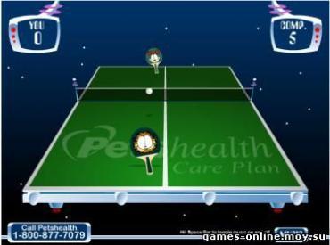 Флеш игра Garfield's Ping Pong