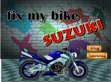 Собери мотоцикл Сузуки