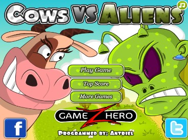 Флеш игра Cows vs Aliens