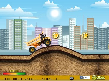 Флеш игра Monster Truck Racer