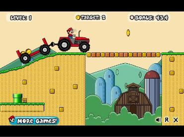 Флеш игра Марио на тракторе
