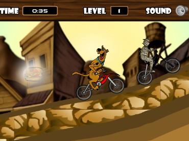 Флеш игра Скуби BMX