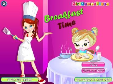 Флеш игра Время завтрака