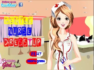 Флеш игра Нежная медсестра