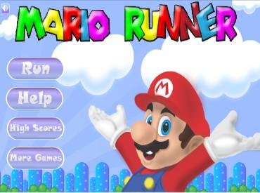 Флеш игра Бегущий Марио