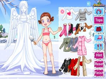 Флеш игра Милый снежный ангел
