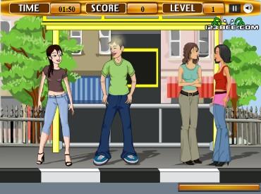 Флеш игра Флирт на автобусной остановке
