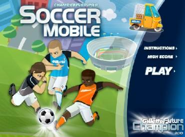 Флеш игра Мобильный Футбол