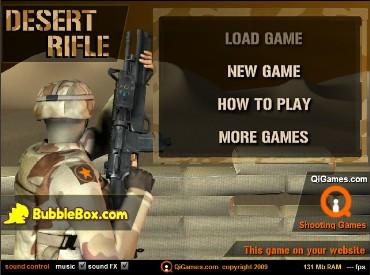 Флеш игра Desert Rifle