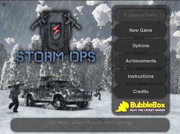 Флеш игра Storm Ops