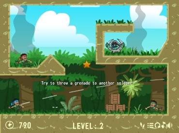 Флеш игра Jungle Wars