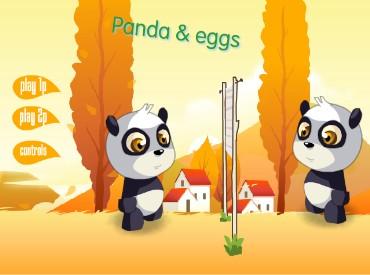Флеш игра Панда и яйца