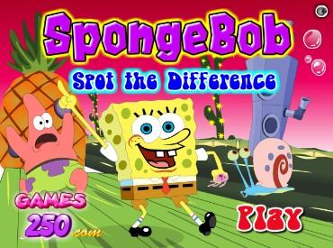 Флеш игра Губка Боб - найди отличия