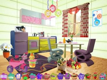 Флеш игра Дизайн Кухни в 3D