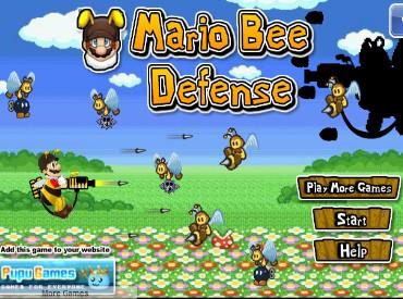Флеш игра Оборона Марио от пчел