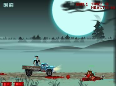 Флеш игра Отстрел зомби с грузовика