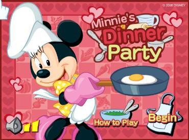 Флеш игра Минни приглашает на званый обед