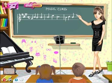 Флеш игра Стиль учителя музыки