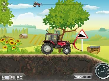 Флеш игра Мощный трактор 2
