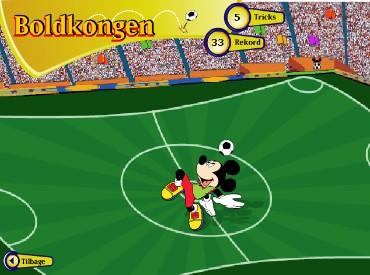 Флеш игра Футбол Диснея