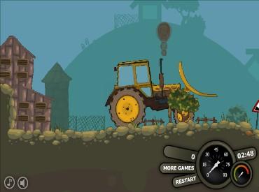 Флеш игра Мощный трактор