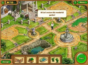 Флеш игра Садовый пейзаж
