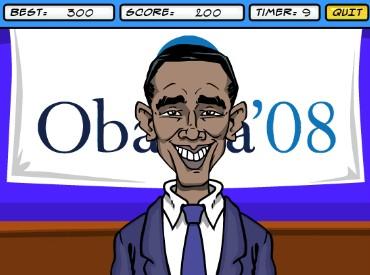 Флеш игра Хиллари против Обамы