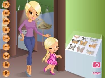 Флеш игра В музей с мамой