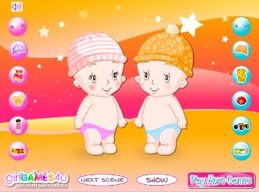 Флеш игра Малыши близнецы