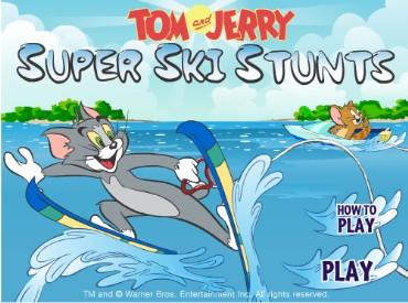 Флеш игра Том и Джерри: Водные лыжи