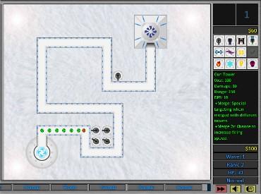 Флеш игра Снежный вирус