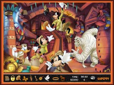 Флеш игра Микки Маус ищет объекты