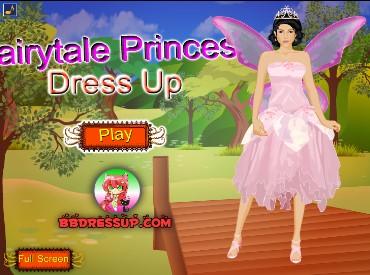 Флеш игра Одень сказочную принцессу