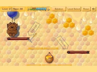 Флеш игра Медведь против пчел