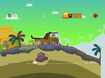 Флеш игра Флинтстоун на грузовике