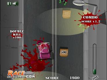 Флеш игра Ночное безумие зомби