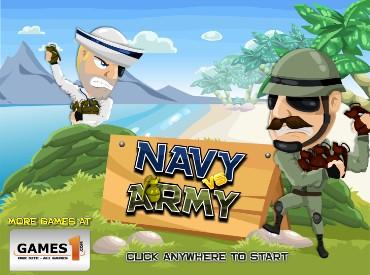 Флеш игра Флот против армии