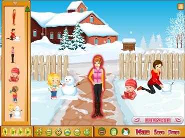 Флеш игра Детки зимой