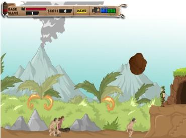 Флеш игра Оборона пещеры