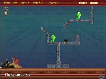 Флеш игра Бей змей
