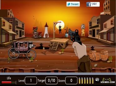 Флеш игра Застрелите грабителей