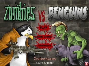 Флеш игра Зомби против пингвинов