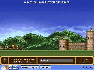 Флеш игра Разрушаем замок