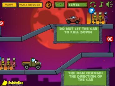 Флеш игра Автомобили против зомби