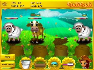 Флеш игра Животные на Лизиной ферме
