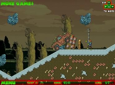 Флеш игра Через страну зомби