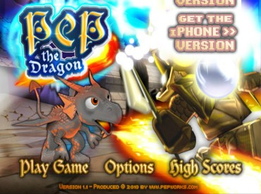 Флеш игра Бодрый дракон