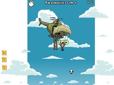 Флеш игра Спасение парашютистов