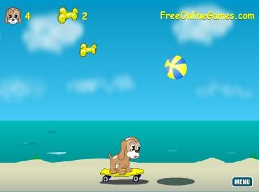 Флеш игра Морские приключения песика