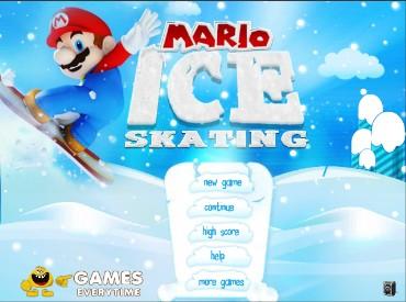 Флеш игра Марио Сноубордист